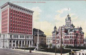 City Hall & Union Bank , WINNIPEG , Manitoba , Canada , 00-10s
