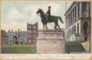 Boston, MASS., General Hooker Statue Overlooking Boston Commons - 1907