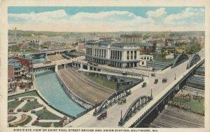 BALTIMORE, Maryland, 1900-1910s ; Union Station & Saint Paul Street Bridge