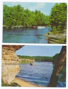 Wisconsin Dells River Boat Tour Cold Water Canyon (2 Cards)
