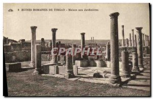 Postcard Ancient Roman Ruins From House to Timegad Planters