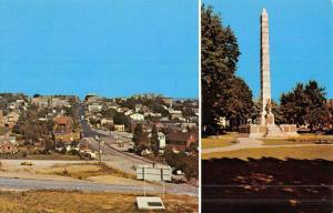 Ebensburg Pennsylvania Street Scene Monument Multiview Vintage Postcard K49238
