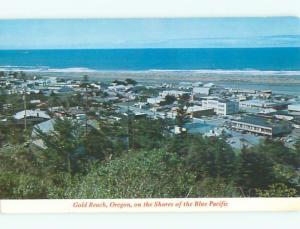 Unused Pre-1980 AERIAL VIEW OF TOWN Gold Beach Oregon OR n2769