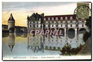 Postcard Old West Facade Chenonceau Chateau