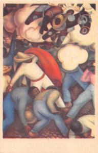 QUEMA de los JUDAS~BURNING OF JUDAS~DIEGO RIVERA ARTIST SIGNED POSTCARD 1940s