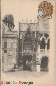 Saluti da venezia vintage postcard