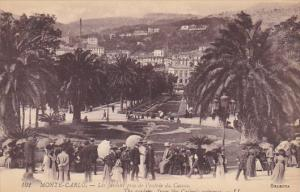 Monte Carlo Les jardins pris de l'entree du Casino