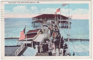 P222 JLs ca1920 orchard beach me postcard the pier