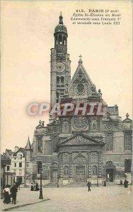 Old Postcard Paris (5th stop) Church St Etienne du Mont