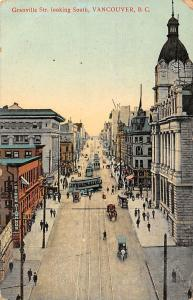 Canada, B.C., Vancouver, Granville Street looking South, trams, carriage