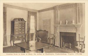 Virginia Fredericksburg Drawing Room In Home Of Mary The Mother Of Washington...