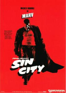 Mickey Rourke in Sin City Movie Postcard