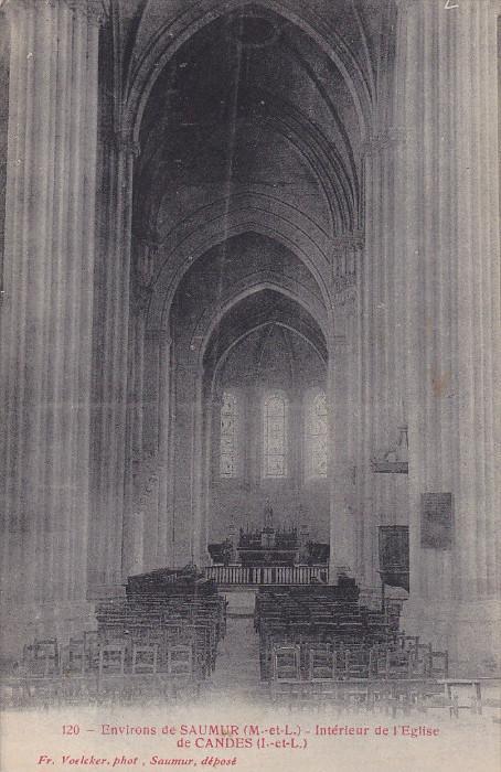 Environs de SAUMUR, Maine et Loire, France; Interieur de l'Eglise de Candes, ...
