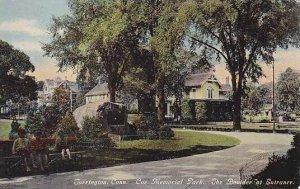 Connecticut Torrington Coe Memorial Park The Boulder At The Entrance