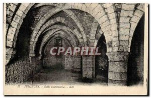 Jumieges Old Postcard underground room