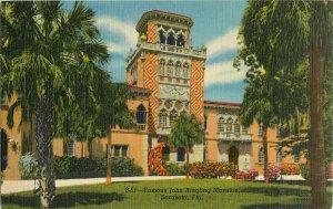 Postcard Famous John Ringling Mansion, Sarasota, FL
