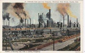 Colorado Pueblo Colorado Fuel & Iron Company 1938 Curteich sk6422