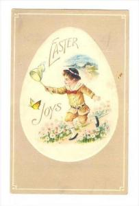 EASTER   Boy chases butterfly with net, 00-10s