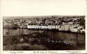 curacao, D.W.I., WILLEMSTAD, View of the Town (1930s) Capriles 28 RPPC