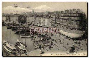 Old Postcard Marseille Port Boat Quay