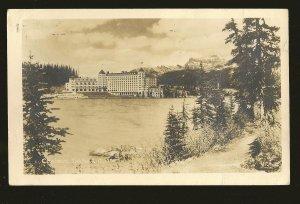 Postmarked 1942 Calgary Alta Chateau Lake Louise Banff N Park Photo Postcard