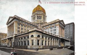 Chicago Illinois~Federal Building & Post Office~1907 Postcard