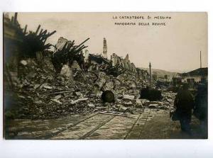 126587 ITALY CATASTROFE di MESSINA Vintage photo postcard