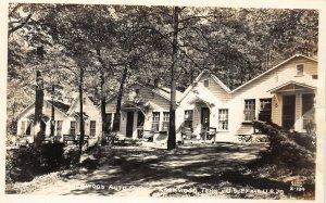 LP49  Rosewood Tennessee Postcard RPPC Cline Photo Auto Court Roadside