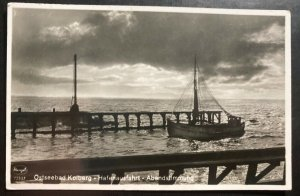 Mint Germany Real picture Postcard RPPC Ostseebad Port Exit