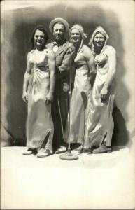 Cross-Dressing Men Dressed as Women Bing Crosby & Andrews Sister RPPC - Gay