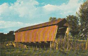 Covered Bridge A Refeshing Country Scene Noble County Vermont