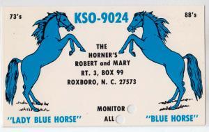 KSO-9024, Blue Horse, Roxboro NC