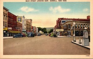 New York Hornell Main Street Looking East