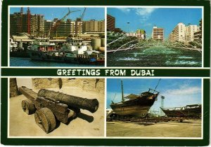 PC CPA U.A.E. , DUBAI, GREETINGS FROM DUBAI, REAL PHOTO POSTCARD (b16402)