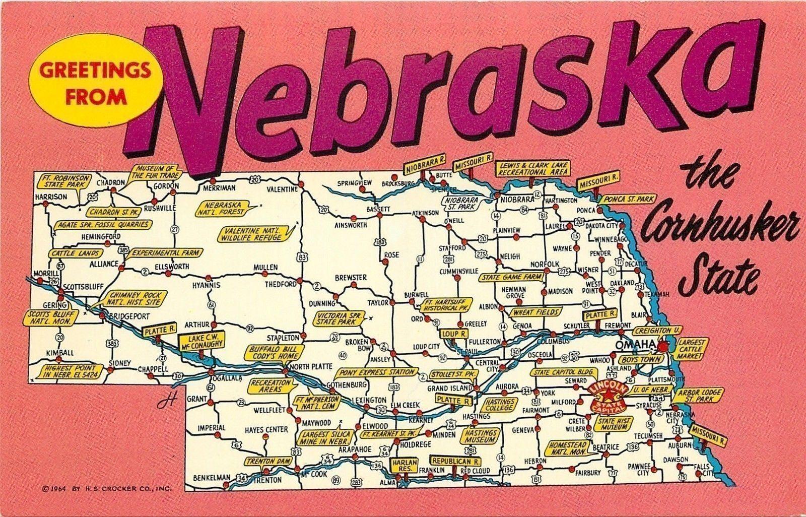 Imperial Nebraska Map.Nebraska Map Morrell To Syracuse Ponca To Imperial Miden To Mullen