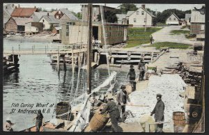 Fish Curing Wharf St Andrews CANADA Used c1910