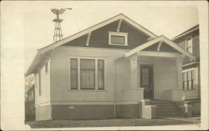Home w/ Windmill - Seattle Indiacated in Message 1911 Real Photo Postcard