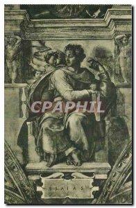 Old Postcard Citta del Vaticano Cappelle Sistina Michelangelo The Prophet Isaiah