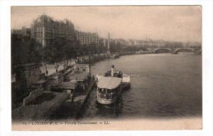 LONDON, England, 1900-1910's; Victoria Embankment