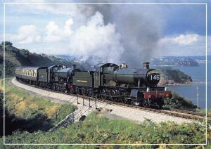 Postcard GWR 7827 & 4920 Steam Gala Paignton & Dartmouth Railway No.C15636