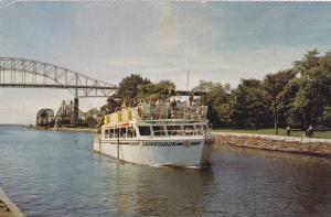 Bridge, Chief Shingwauk Sight Seeing Cruise Boat, Soo Locks, Sault Ste. Marie...