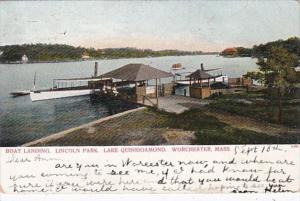 Massachusetts Worcester Boat Landing Lincoln Park Lake Quinsigamond 1906