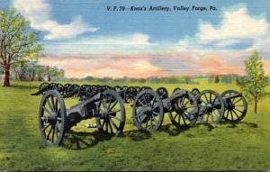 Pennsylvania Valley Forge Knox's Artillery Curteich