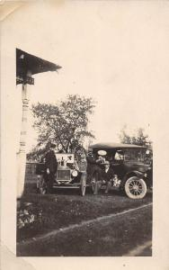 D41/ Early Automobile Car Auto Real Photo RPPC Postcard c1910 Cars Pets DOg 22