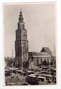 RP: Aerial of Busy Market Scene / Martinitoren,Groninger,Netherlands 1930-40s