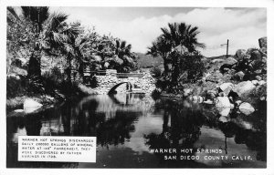 RPPC WARNER HOT SPRINGS San Diego County, California ca 1940s Vintage Postcard