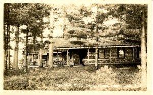 NY - Tupper Lake. Legion Camp, The Main Cabin   RPPC