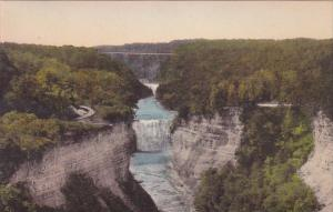 Middle Falls From Inspiration Point Letchworth State Park P O Castile New Yor...