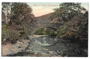 Scotland Trossachs Brig o Turk Bridge Vintage Postcard