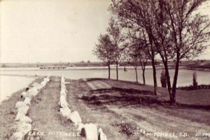 REAL PHOTO LAKE MITCHELL MICHELL, SD RP